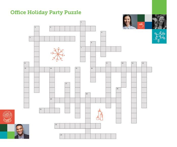 Ye Olde Holiday Crossword With Clues For Solving The Office Party Puzzle Employment And Hr United States