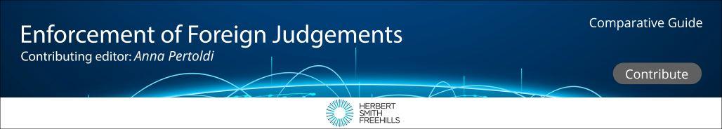 Recognition & Enforcement of Foreign Judgements