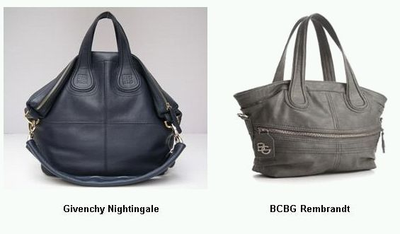 Here Are Some Pictures Of Givenchy S Nightingale Handbag Next To Bcbg Rembrandt