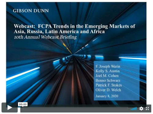 Webcast Fcpa Trends In The Emerging Markets Of China